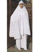 Abaya Cotton - White